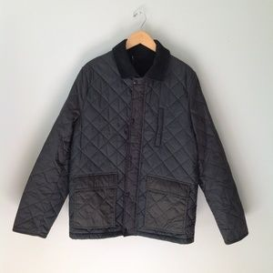 John Lewis | Quilted City Jacket in Dark Green